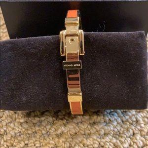 Michael Kors Gold and Orange Bracelet